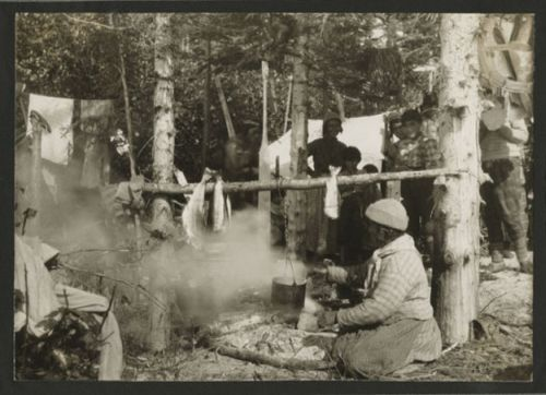 A summer camp of the Montagnais [Innu] Indians on Grand ...
