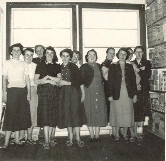 Women workers at the Fishermen's Union Trading Company store.