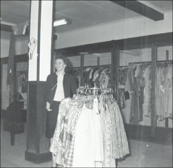 Fishermen's Union Trading Company clothing department employee, Shirley (Mason) Pardy.