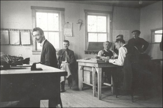 Staff at the Fishermen's Union Trading Company office.