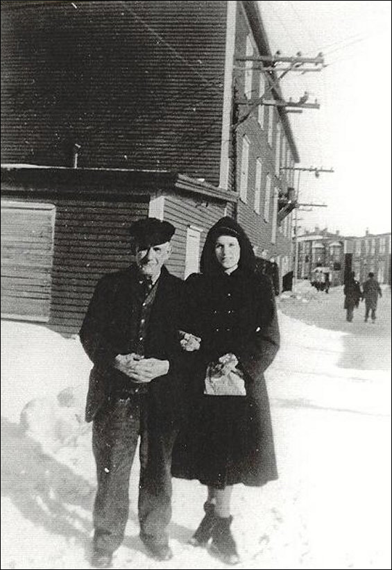 Isaac Russell and Mabel Lodge outside the Fishermen�s Advocat Building.