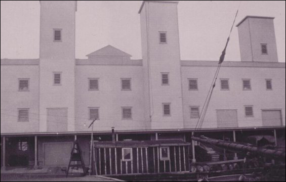 Rear view of the Salt fish plant.