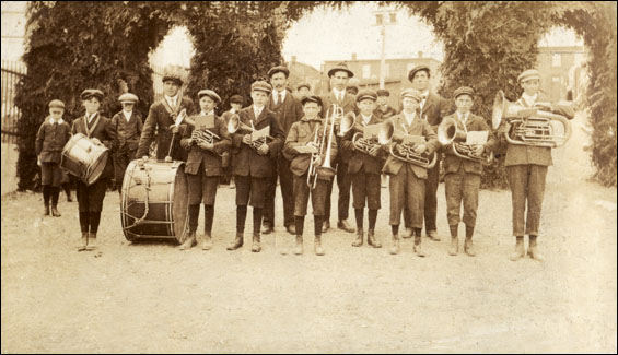 """Elliston Band&#8221 [Elliston Band at Port Union, possibly to welcome"