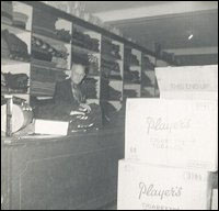 Alfred Hussey, longtime employee, in the dry-goods department, Fishermen's Union Trading Company store.