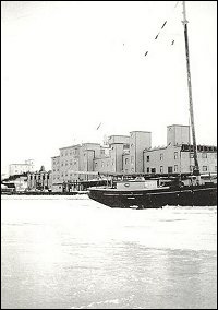View of Harbour with Fishermen's Union Trading Company premises in the background.