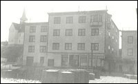 Rear view of the Fishermen's Union Trading Company premises showing the bay windows of Coaker's office on the top floor.