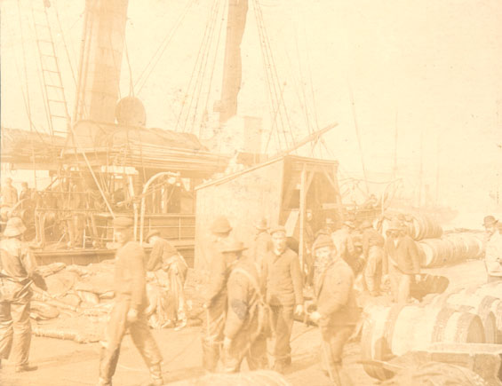 "S.S. ""Diana"" loading for the seal fishery"
