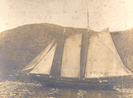 Unidentified schooner entering the Narrows, St. John's