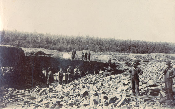 Men working at Wabana Mines, Bell Island, Conception Bay