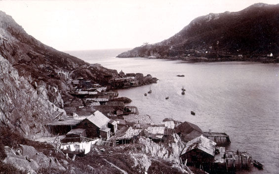 Entrance to St. John's harbour showing the Battery area