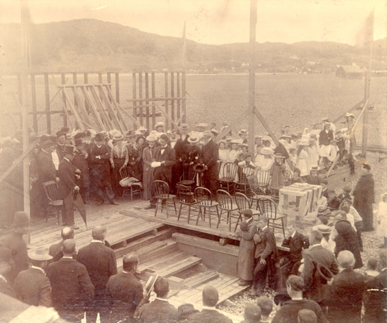Laying of the cornerstone at the Placentia court house by Sir Cavendish Boyle