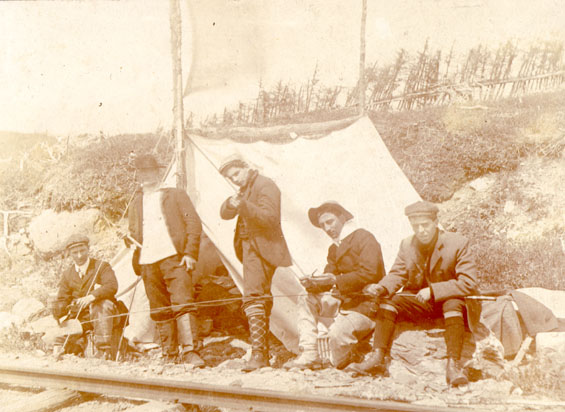 Camping at Nine Mile Post, Placentia Railway Line