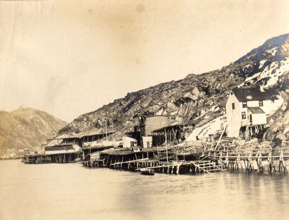 South side of St. John's harbour near Fort Amherst