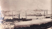 Harbour view in February from Job Brothers & Co. premises, north side, St. John's