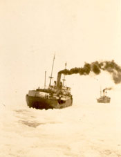 "S.S. ""Beothic"" and S.S. ""Imogene"" at the icefields"