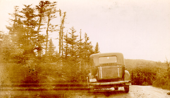 H.B. Clyde Lake's automobile damaged in an accident