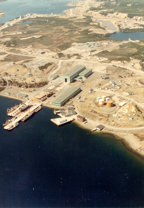 Aerial view of Marystown Shipyard, Marystown, Newfoundland