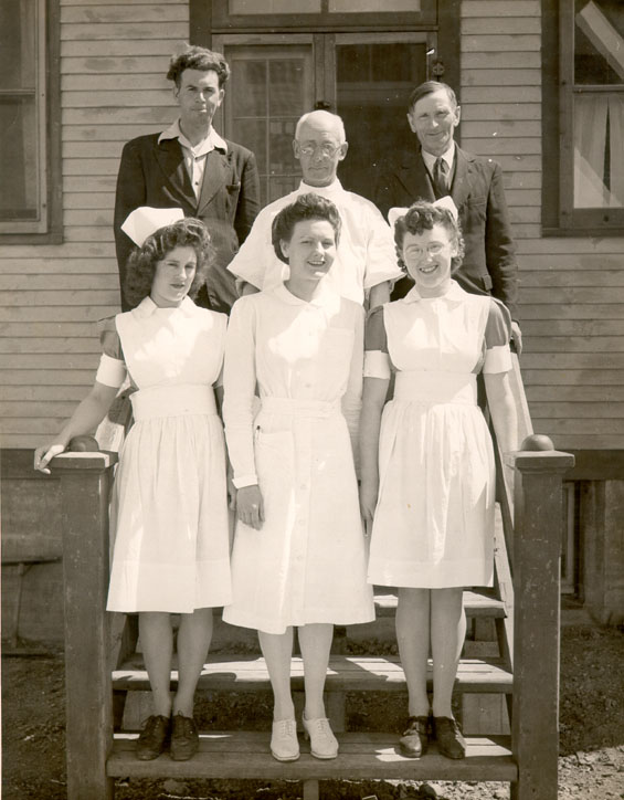 Dr. C.A. Forbes and staff at the Bonavista Cottage Hospital