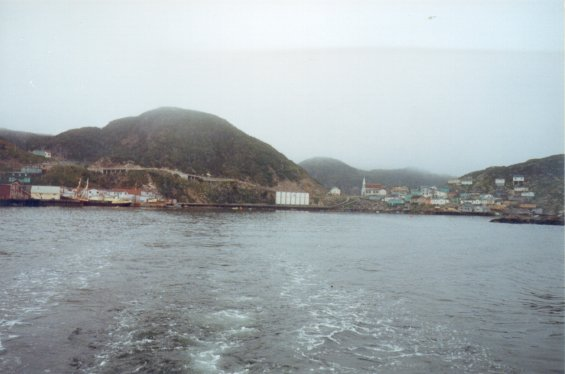 Town of Gaultois, south coast of Newfoundland