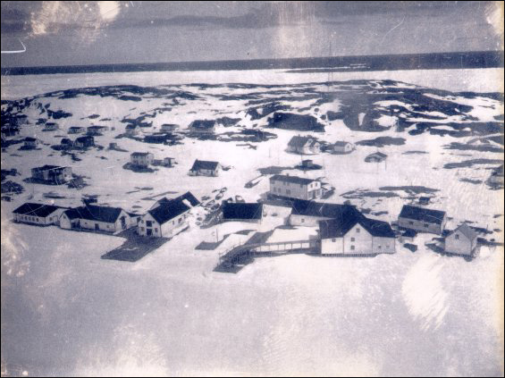 Aerial view of Battle Harbour