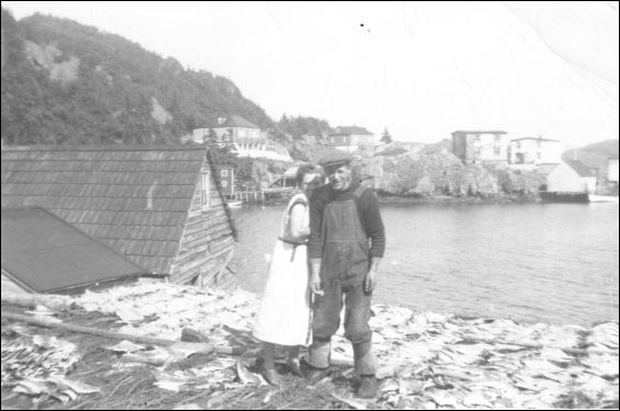 Joseph and Elizabeth Hodder on their flake at Ireland's Eye