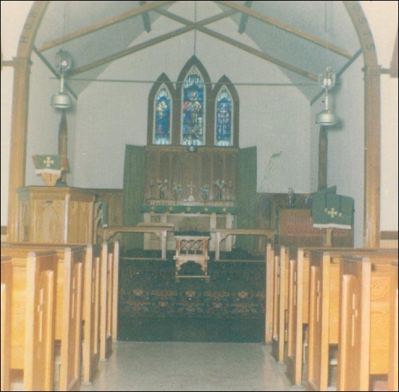 Interior of St. George's Anglican Church, Ireland's Eye
