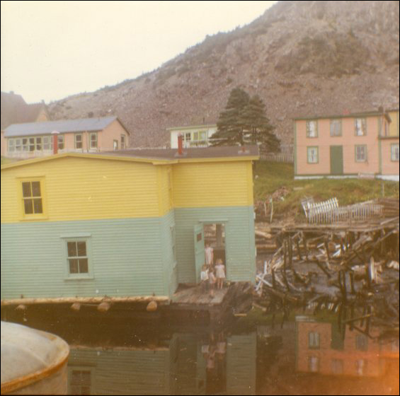 Jack Wadman house preparing for a move from Bar Haven to Southern Harbour, Placentia Bay