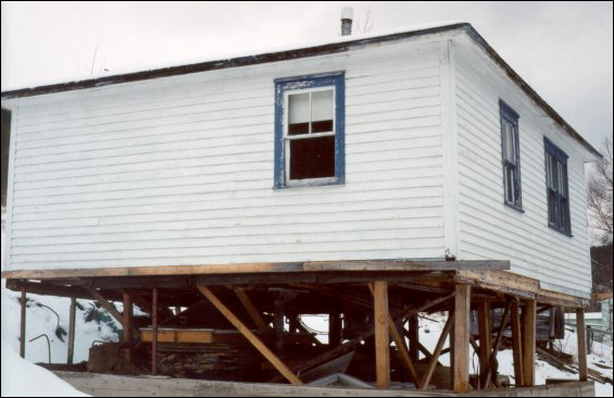 Nelson Pittman house at Sop's Arm after move from Sops Island