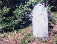 Gravestone, Cape Cove, 1993