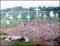 Restored graveyard, Cape Cove, after 1993