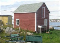 Former Cape Cove house used as a barn in Tilting, Fogo Island, 2009