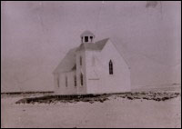 Cape Island methodist church, referred to locally as 'the church up on the nick'