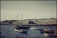 Schooner, Agnes and Dale, owned by Gus Dalton and anchored in Regina.