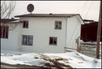 Job and Eileen Brenton house, Bide Arm [House was moved from Hooping Harbour to Bide Arm in 1969. Current owners are Willis and Brenda Brenton.]