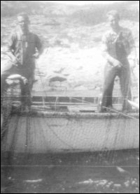 Hauling a cod trap at Hooping Harbour
