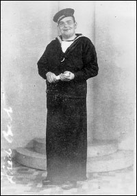 Fred Best of Merasheen, Placentia Bay in his naval uniform