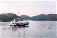 M.V. Placentia Bay Queen (formerly Bertha Joyce) carrying passengers to the reunion at Harbour Buffett, Placentia Bay.