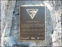 East Coast Trail Plaque at La Manche Bridge