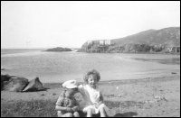 Edna (Walters) May and Gerald Walters on the beach at Point Rosie
