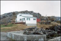 Richard Pike house, Salvage, floated from Flat Islands