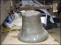 Silver Fox Island, original bell from St. Andrews Church