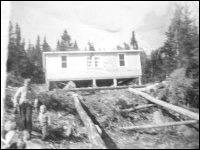 Arthur and Maud Pittman house at Sop's Arm after it was moved from Sops Island