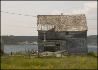 House of William Combden, Seldom, Fogo Island, after move form Wild Cove