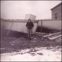 Shed of William Eveleigh, (pictured) Floss budgell, Wild Cove